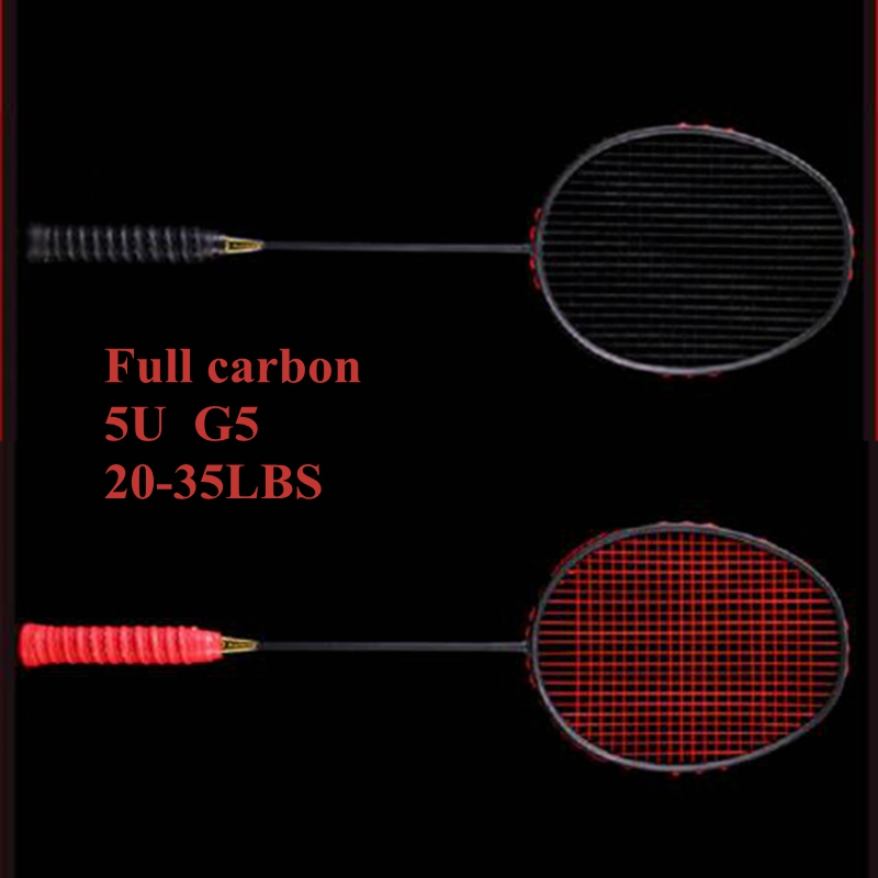 KALITE 5U Carbon Badminton Racket With String  Badminton Raquets Badminton Racquet With Bag