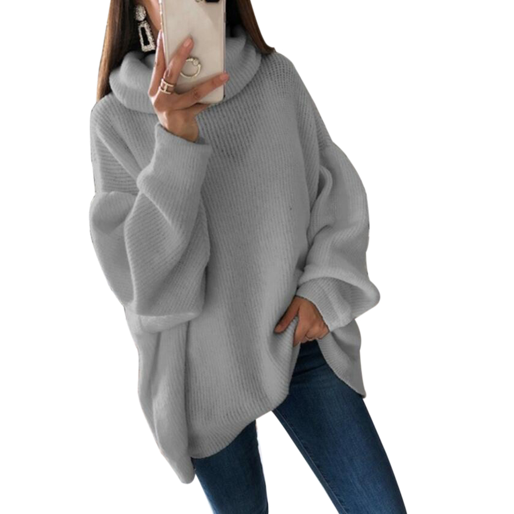 HEFLASHOR  Long Sleeve Female Autumn Pull Jumpers 2020 New Casual Loose Turtleneck Sweater Pullovers Women Knitwear Sweaters