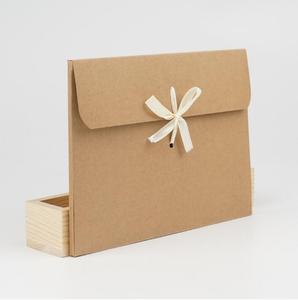 Image 3 - 10pcs White Kraft Paper Cardboard Envelope Bag Scarf Packaging Box Photo Postcard Envelope Gift Box With Ribbon