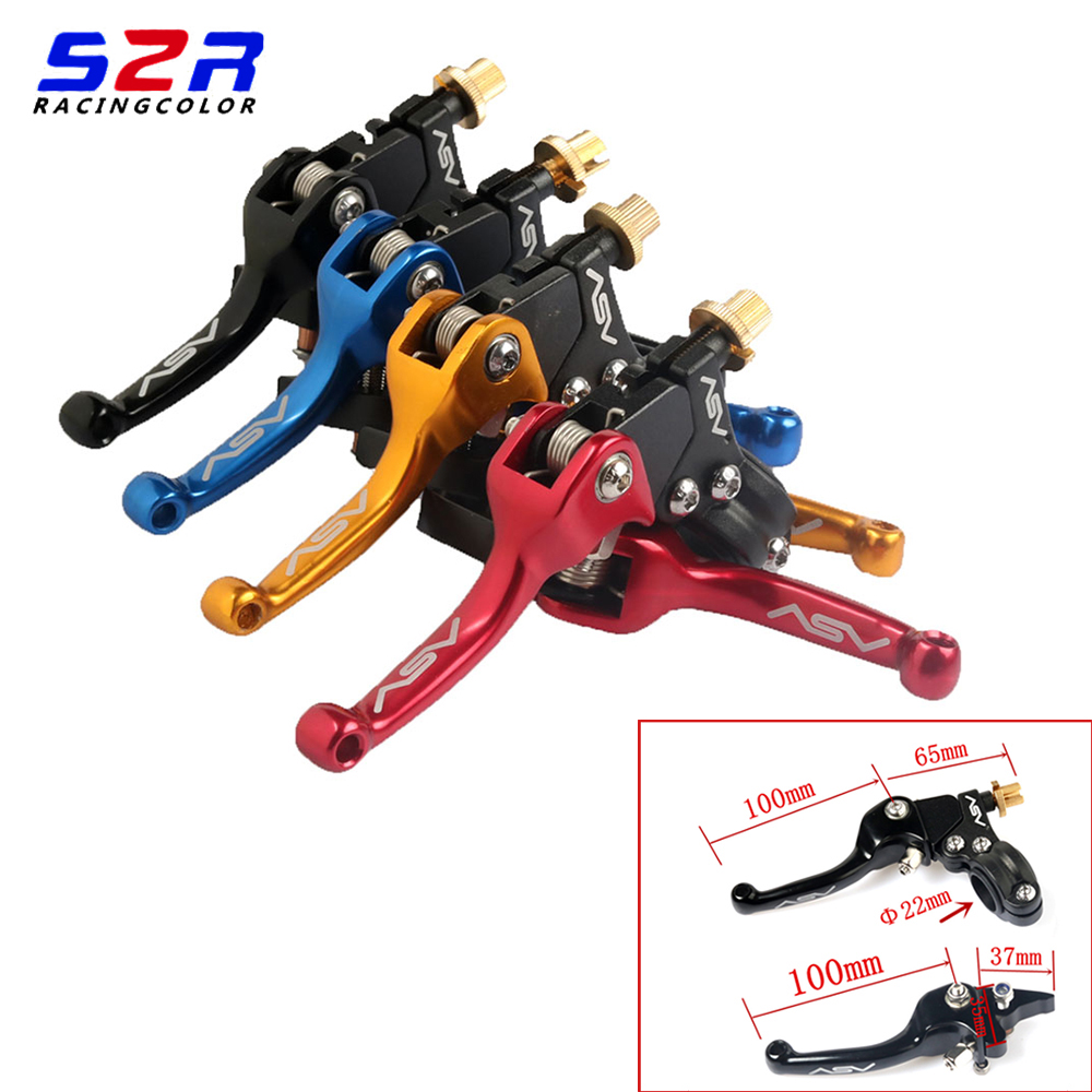 Motorcycle Aluminum Folding ASV Universal Extendable Brake Clutch Levers 22mm For SDG YCF SSR CRF XR KLX Motocross Pit Dirt ATV