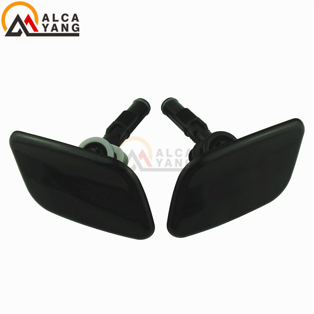 1Pair Front Bumper Headlamp Washer Nozzle Cap Cover for Nissan Qashqai 2010-2013