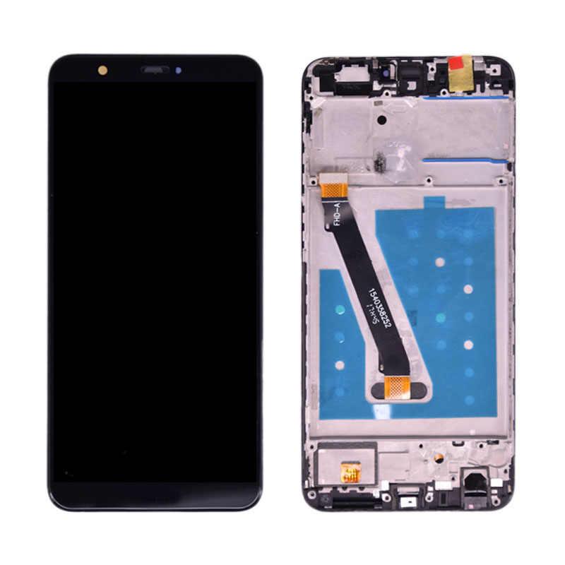 لهواوي P الذكية شاشة الكريستال السائل مجموعة المحولات الرقمية لشاشة تعمل بلمس لهواوي P الذكية LCD مع الإطار التين LX1 L21 L22 شاشة استبدال