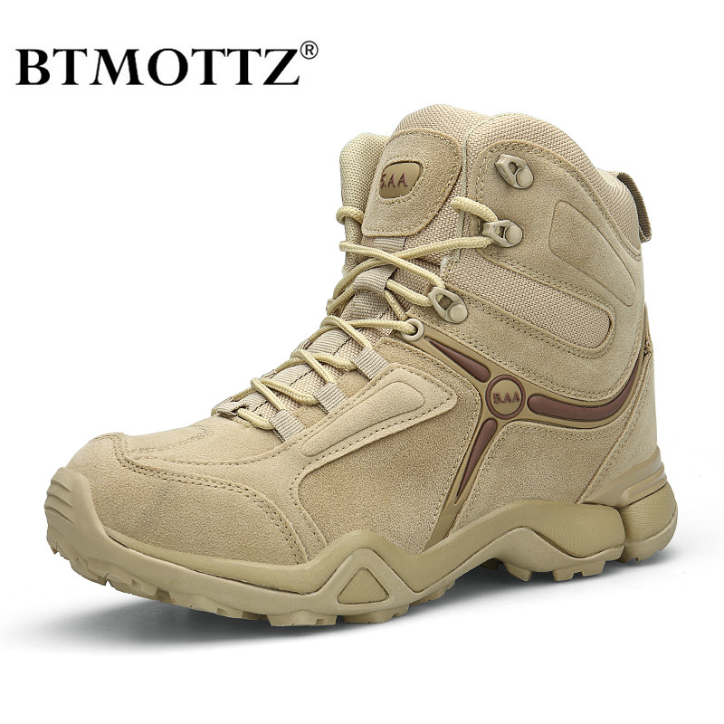 Winter Men Military Boots Quality Special Force Tactical Desert Combat Ankle Boats US Army Work Shoes Leather Snow Boots BTMOTTZ