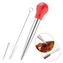 Легко моется индейка набор Бастер с инъекцией иглы щетка для чистки портативный индейка инструмент для приправ для кухни