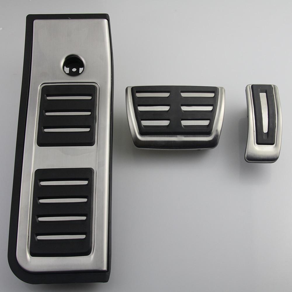 Набор педалей для Audi A6 C8 2019-2020 из нержавеющей стали топливный автомобиль педаль тормоза акселератора тормозные резиновые колодки-0