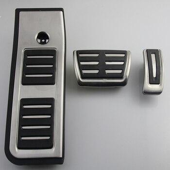 Набор педалей для Audi A6 C8 2019-2020 из нержавеющей стали топливный автомобиль педаль тормоза акселератора тормозные резиновые колодки