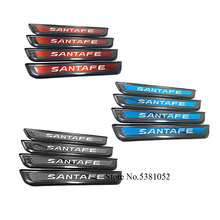Car Sticker Stainless Steel Door Sill Scuff Plate Protector Strip Goods Auto Accessories For Hyundai Santafe 2020 Santafe for car sticker hyundai santafe 2019 accessories stlyling staninless steel door sill protector welcome pedal scuff plate trim