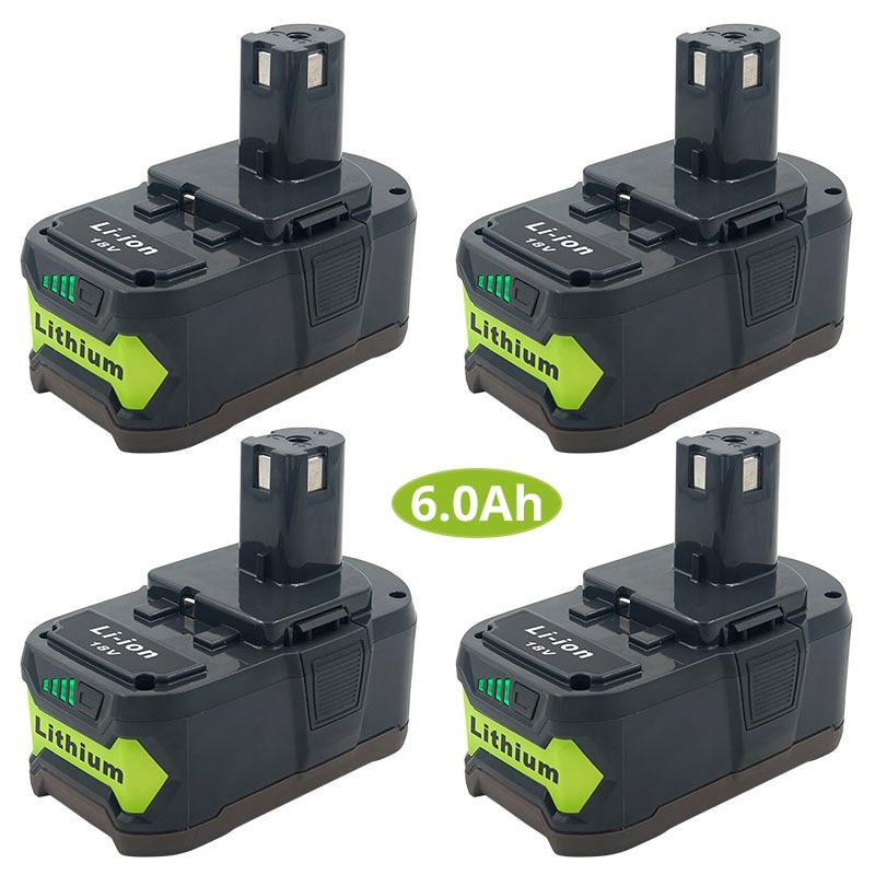Topbatt 18V 5.0Ah Batterie de remplacement pour Ryobi Li-ion One RB18L50 RB18L40 RB18L25 RB18L15 RB18L13 P108 P107 P122 P104 P105 P102 P103 avec indicateur de charge /à LED