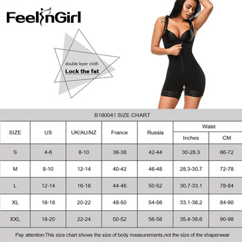 FeelinGirl Women Body Shaper Lingerie Open Crotch Corset Butt Lifter Bodysuit Zipper Underbust Push Up Slimming Waist Trainer-C5 6