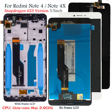 "Pantalla LCD para Xiaomi Redmi Note 4, pantalla táctil de reemplazo, 625 "", Snapdragon 5,5, Octa Core"