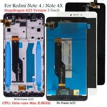 ディスプレイxiaomi redmi注4 lcdディスプレイタッチスクリーンの交換redmi注4X snapdragon 625オクタコアディスプレイ5.5