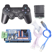 цена на PS2 Joystick Remote Control+ Mega2560 Board+ 4 Channel Motor 9 Channel Servo Driver Board for Arduino DIY Mecanum Wheel Robot