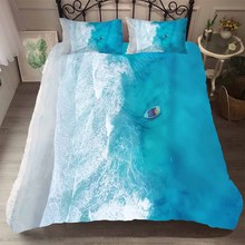 Duvet Cover King Size Bedding Set 3D Sea Pattern Home Textiles Comfotable Material with Pillowcases King Queen Single Size
