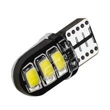 100 piezas venta al por mayor T10 funda de silicona 6 SMD 5630 llevó la luz de la bóveda del coche W5W 194 6LED 6SMD 5730 LED de la cuña bombilla de estacionamiento de lámpara 12 V 100X