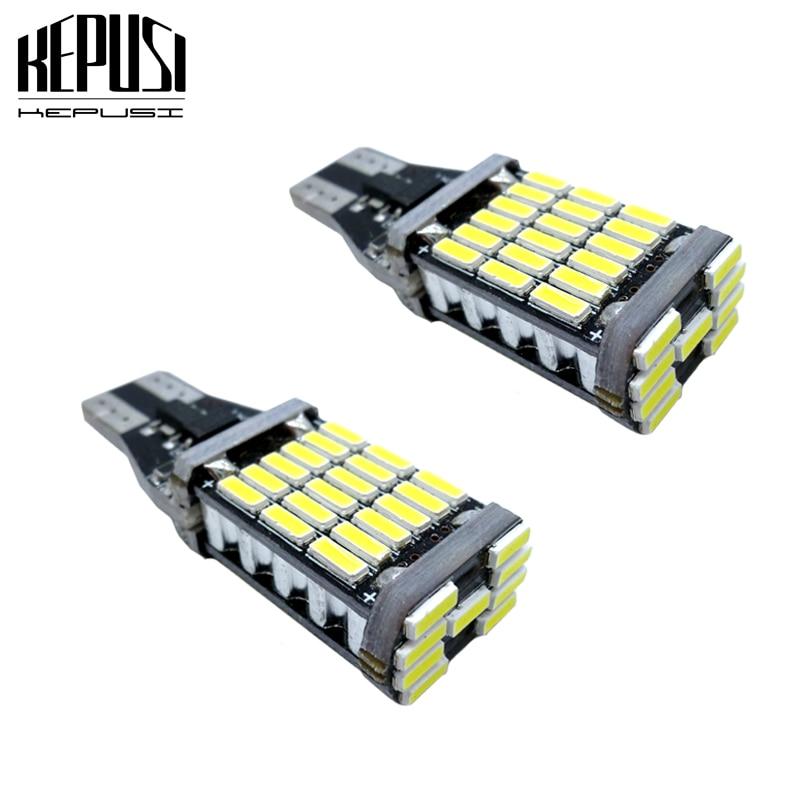 2x CANBUS Error Free Car LED Bulb Light W16W T15 921 6000K White 15 SMD-2835 12V