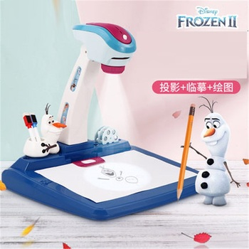 Original Disney Frozen 2 Elsa Princess Drawing Projection Copy Board Children Drawing Projector Hand Painted Drawing Board M5142