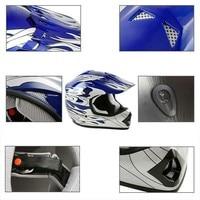 DOT Dirt Bike ATV Motocross Helmet w/ Gloves + Goggles Adult / Youth cascos para moto kask motocyklowy full face Off-Road Helmet 5
