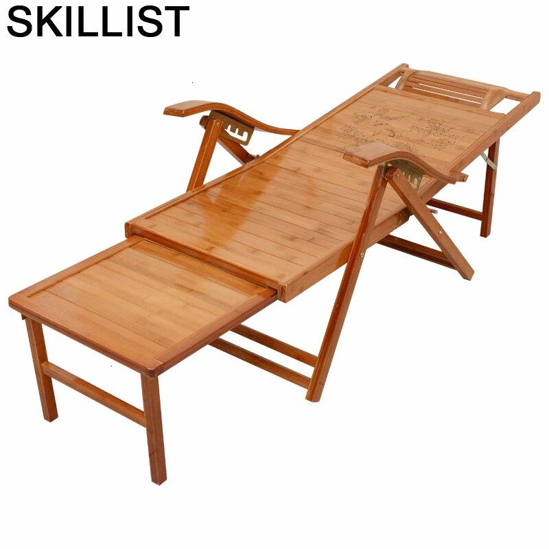 Lounge Poltrone Da Salotto Sofa Sillones Moderno Para Sala Bamboo Cama Plegable Sillon Reclinable Folding Bed Recliner Chair