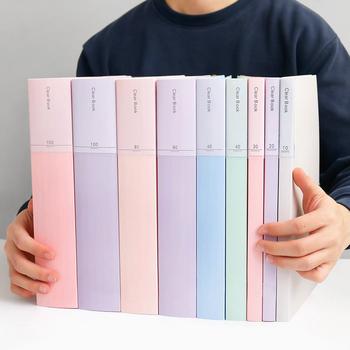 JIANWU A4 Morandi torba na dokumenty 100 stron książka danych o dużej pojemności folder portfolio materiały biurowe tanie i dobre opinie NoEnName_Null 236X310mm Other