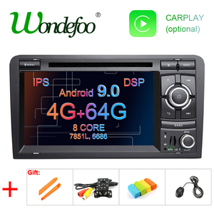 Android 9.0 DSP IPS 64G 2 DIN DVD Player for Audi A3 8P 2003-2012 S3 2006-2012 RS3 Sportback 2011 GPS Radio Navigation Stereo PC(China)