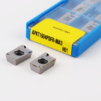 Inserts APKT1604 PDFR MA3 H01 100% original Aluminum Carbide Insert Machining Aluminum Inserts Lathe Cutter Tools Turning Tool