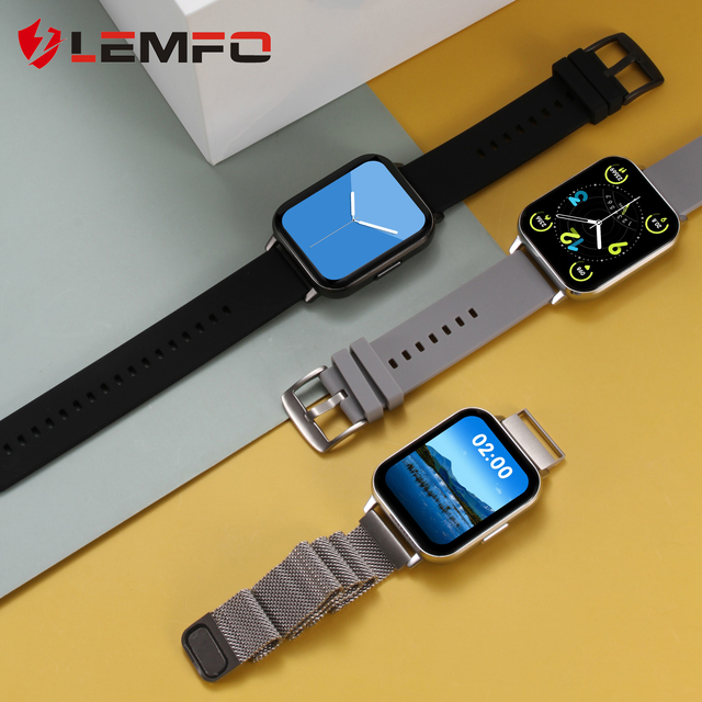 LEMFO DTX Smart Watch 420*485 Resolution 1.78 Inch IP68 Waterproof ECG Monitoring BT5.0 Weather Forecast for Android IOS 1
