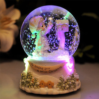 Princess Music Box Snow Globe Crystal Ball Music Box Craft Home Decor Valentine's /Wedding Gift Xmas's the Best Present for Girl