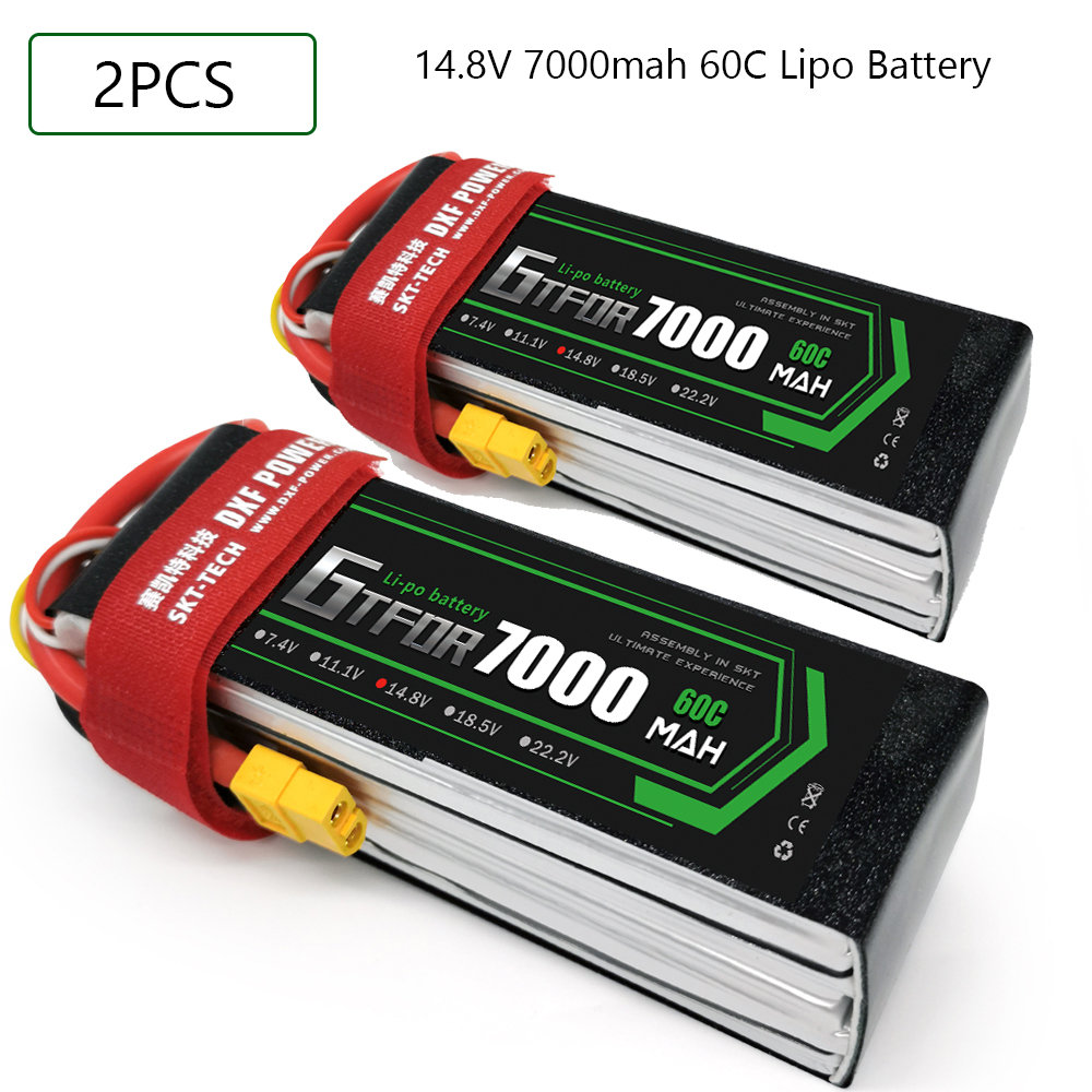 GTFDR <font><b>4S</b></font> 14.8V <font><b>7000mAh</b></font> 60C 120C <font><b>Lipo</b></font> Battery <font><b>4S</b></font> XT90 XT60 T Deans EC5 For FPV Drone Airplanes Car Boat Truck Helicopter RC Parts image