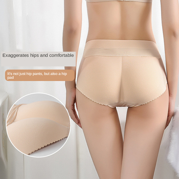 Sexy Hip Slimming Seamless Underwear Thickened Four Seasons Fake Butt Shaping Hipp Lifting Pants image