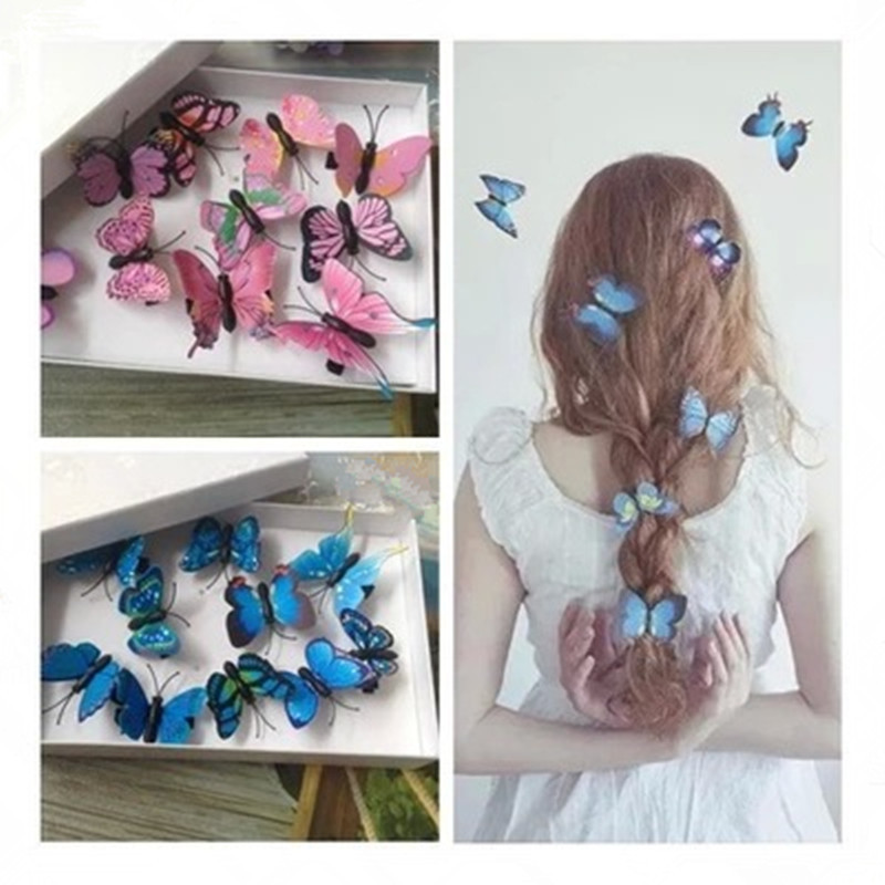 5Pcs Mini Butterfly Hair Clips Women Hairpins Fashion Headpiece Barrette Wedding Hairpins Hair Accessories Hair Styling Tools