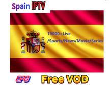 Spanish IPTV Subscription Spain italia DE Portugal Abonnement live channels France Espana for tv box android 9 Smart
