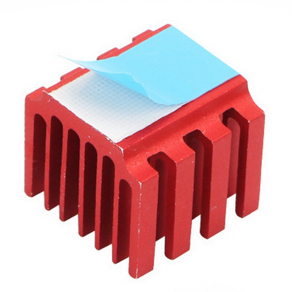 3d Printer Stepper Motor Driver 3d Printer Parts And Accessories Aluminum Cooling Fan Oxidized Red Heat Sink