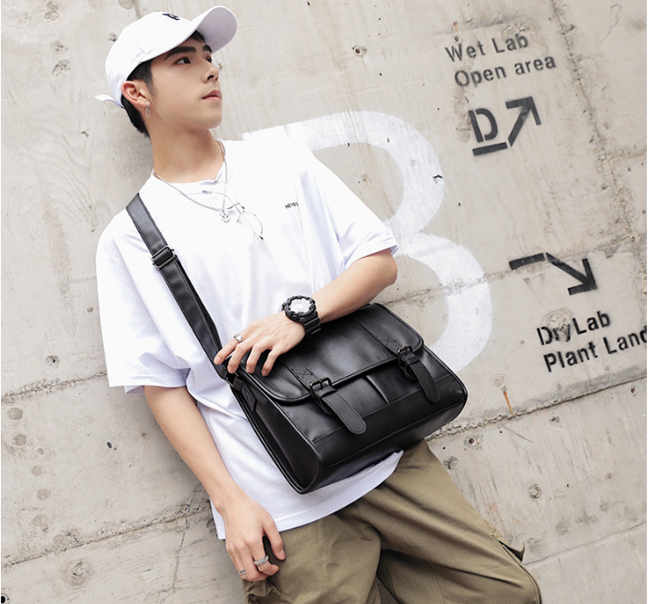 Gentle Mens Leather Briefcase All-match Business Shoulder Bag Multifunction Waterproof Mens Formal Bags Bolso Hombre DF323