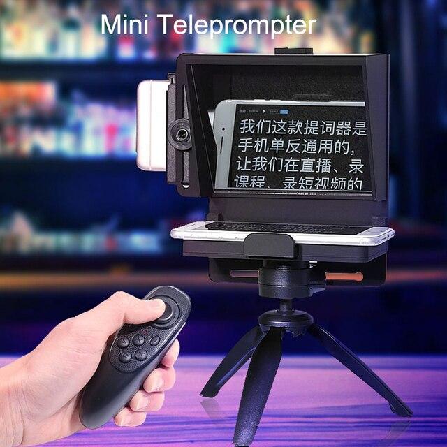 Mini Teleprompter Di Động Inscriber Di Động Teleprompter Hiện Vật Video Cho Samsung iPhone Và Máy Ảnh DSLR Ghi Âm VS Bestview T1