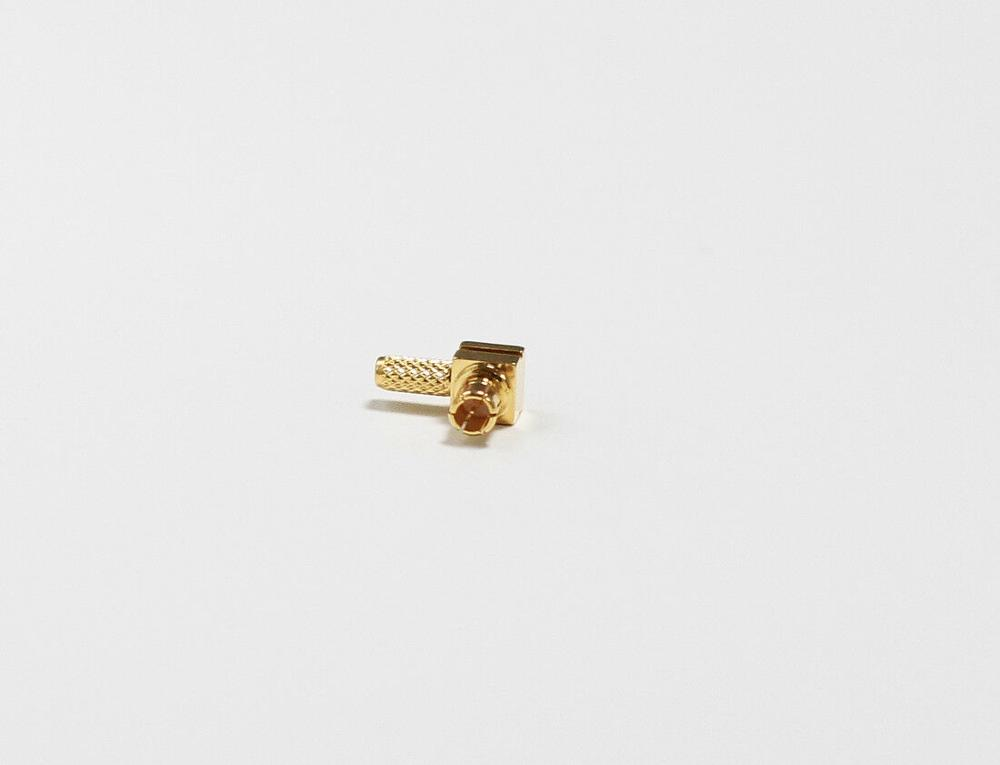 New MCX  Male Plug Right Angle RF Coax Convertor Connector  Crimp For RG316 RG174 Cable Goldplated  Wholesale