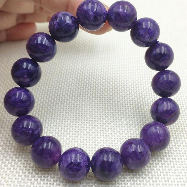 бусины шармы из натурального фиолетового хароитного браслета фотография