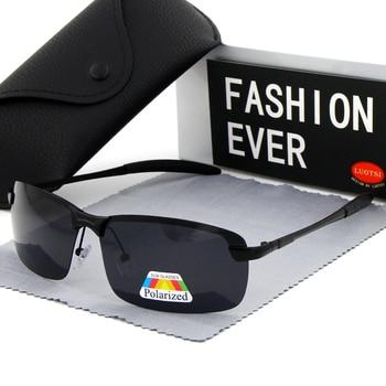 Brand Design Polarized Sunglasses For Men Fashion Discoloration Black Glasses Male Driving Eyewear Accessories Small Sport UV400