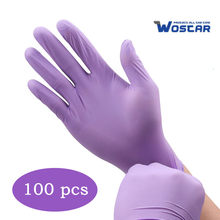 Wostar Disposable Nitrile Gloves Cleaning 100pcs Powder-free Latex-free Food Grade Laboratory Waterproof Household Work Gloves