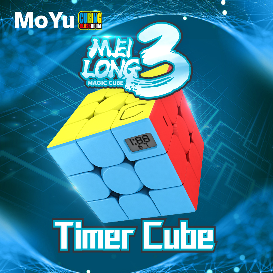 MoYu Meilong 3 Timer Cube Magic Stickerless Puzzle Cubes 3x3x3 Classroom Professional Speed Cubo Magico Educational Toys For Stu