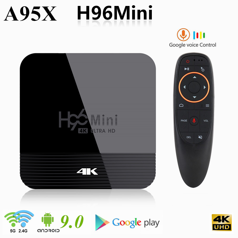 H96 mini h8 android 9.0 smart tv box 2gb 16 2.4g 5g wifi 4k youtube media player bt4.0 4k google