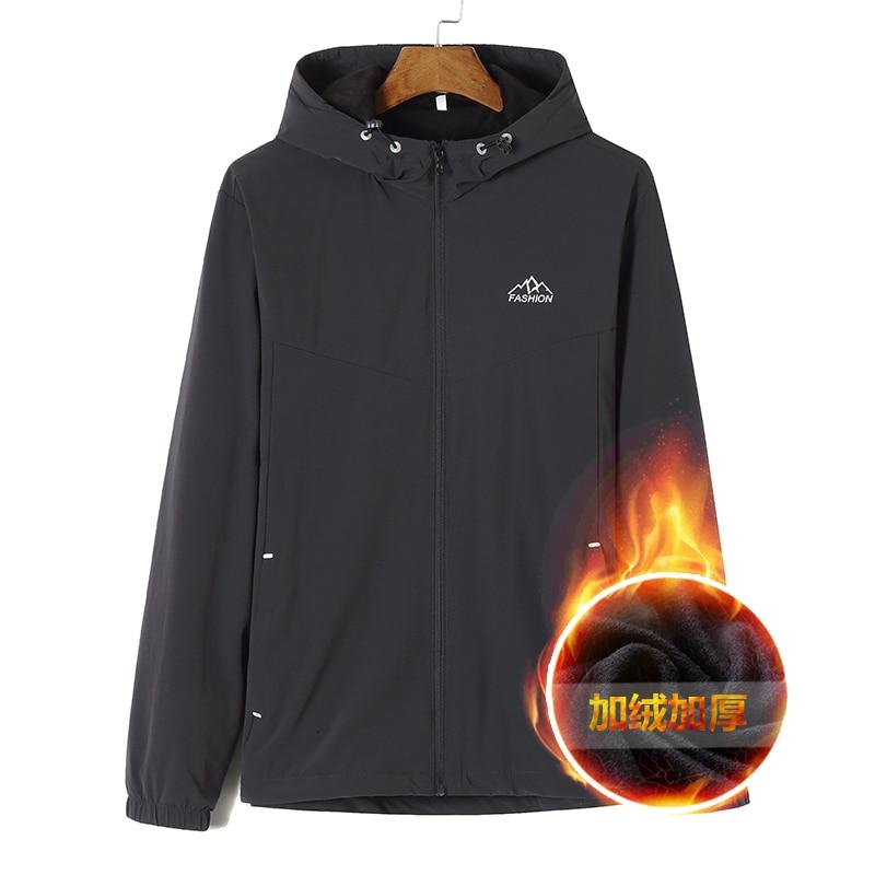 Большой размера плюс 8XL 7XL 6XL флисовые куртки мужские пилот куртка Бомбер теплые мужские модные пальто с капюшоном приталенное пальто брендо... - 3