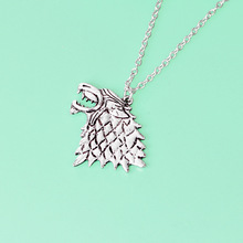 Fashion rights game Stark Wolf necklace ice and fire song personality creative European American movie accessories