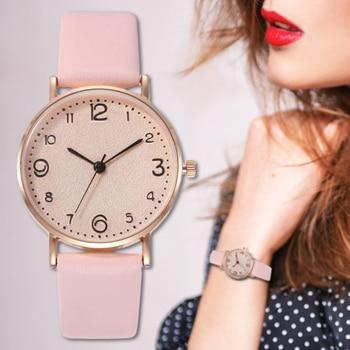 цена на Women Watch Best selling Popular Simple Analog Leather Quartz Watches Fashion Casual Luxury Woman Dress Wrist Watch reloj mujer