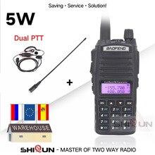 الأصلي 5 واط BaoFeng UV 82 اسلكية تخاطب المزدوج الفرقة VHF UHF 136 174 ميجا هرتز 400 520 ميجا هرتز 8 واط Baofeng UV 82 هام راديو Baofeng 82 UV82 UV 5R