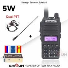 מקורי 5w BaoFeng UV 82 ווקי טוקי Dual Band VHF UHF 136 174MHZ 400 520MHZ 8W Baofeng UV 82 חזיר רדיו Baofeng 82 UV82 UV 5R