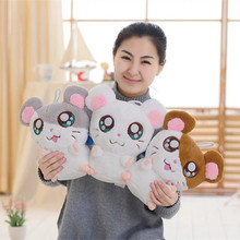 цена на 1PC 30cm Cute Hamster Mouse Plush Toy Stuffed Soft Animal Hamtaro Doll  Kawaii Birthday Gift for Children Lovely Kids Baby Toy