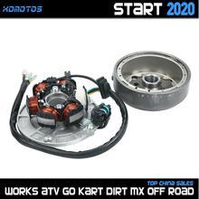 LF140 Engine Ignition Magneto Stator Magneto Flywheel kit For Lifan 140 140cc 1P55FMJ Horizontal Kick Starter Engines Dirt Pi