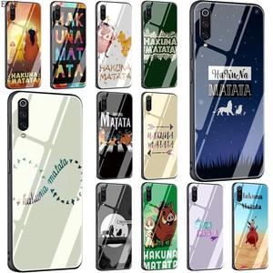 EWAU hakuna matata Tempered Glass phone case for Xiaomi 5X 6X 8 Lite 9 A1 A2 F1 Remdi 4X 6A Note 5 6 7 pro
