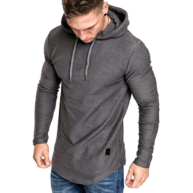 2021 New Men's Brand Pure Color Sweatshirt Fashion Men's Hoodie Spring Autumn Winter Casual Hoodie Men's Long Sleeve M-3XL 1