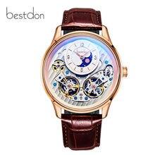 Switzerland luxury brand mechanical watch men Double Skeleto